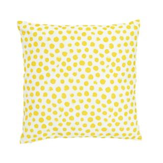 Coussin en coton à motifs fleurs ou pois coloris assortis 45x45 cm 699996
