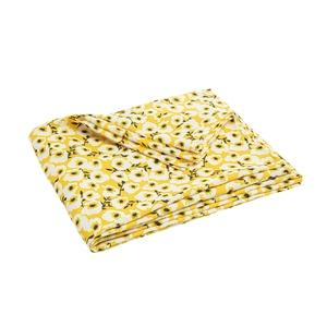 Nappe en polyester à fleurs coloris gris ou jaune 250x140 cm 699997