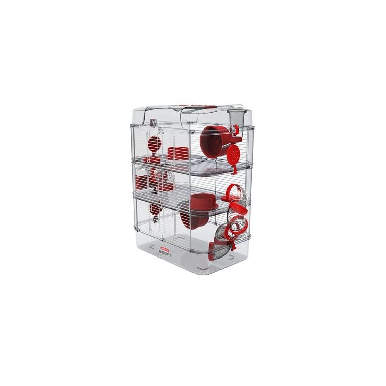 Cage Rody 3 trio grenadine L 27 x l 41 x H 53 cm 605962