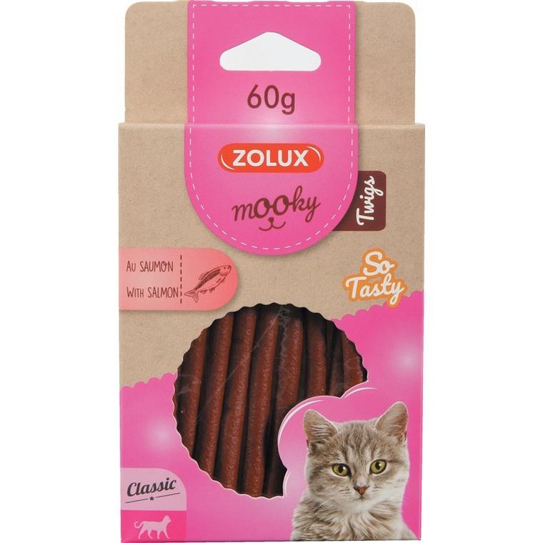 Friandises pour chat Mooky Twigs saumon en étui de 60 g 606899