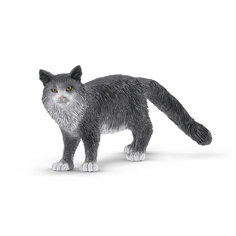 Figurine Chat Maine Coon plastique 8x4,1x3 cm à partir de 4 ans 607217