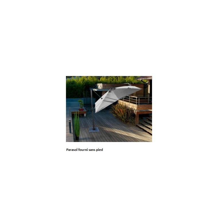 Parasol carré déporté rotating gris 3 m X 3 m 61014