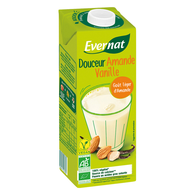Boisson Douceur amande vanille calcium bio en brique de 1L 611575
