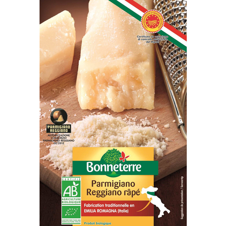 Parmesan AOP râpé Bonneterre 50 g 611598