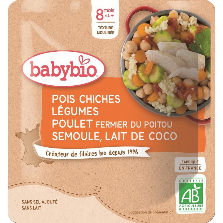 Menu du jour poche pois chiche légumes poulet semoule - 190 gr 611704