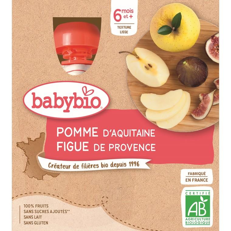 Gourdes pomme figue dès 6 mois - 4x90 gr 611707