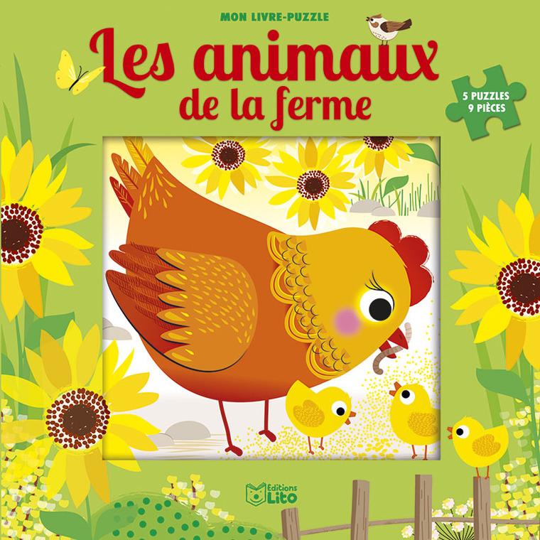 Les Animaux de la Ferme Mon Livre Puzzle 9 Pièces 2 ans Éditions Lito 612281