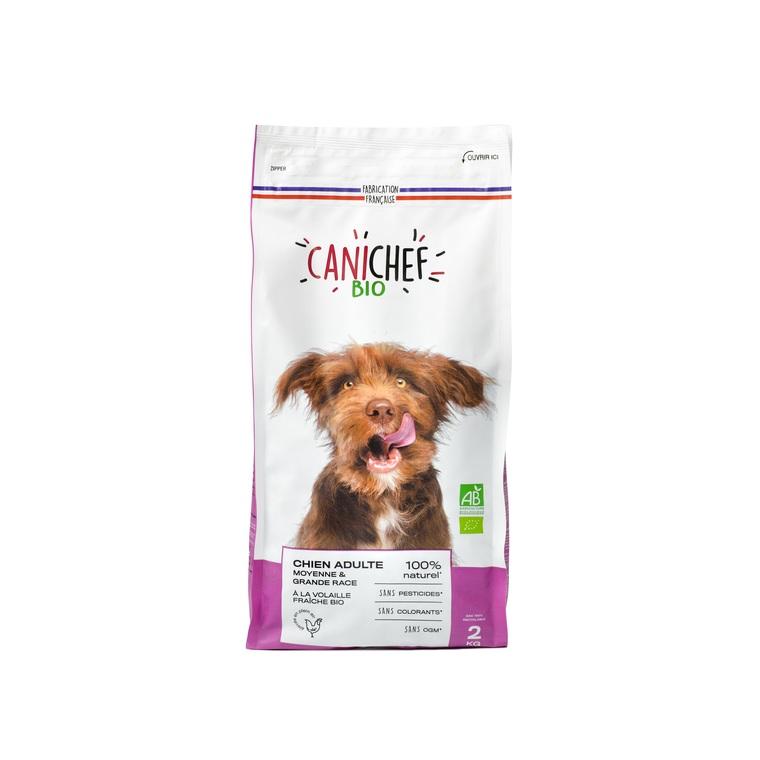 Croquettes pour chien de grande race bio en sac de 2 kg 612430