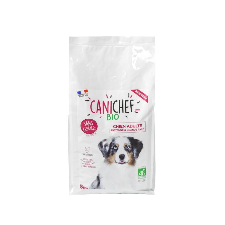 Croquettes pour chien de grande race bio sans céréales en sac de 5 kg 612434