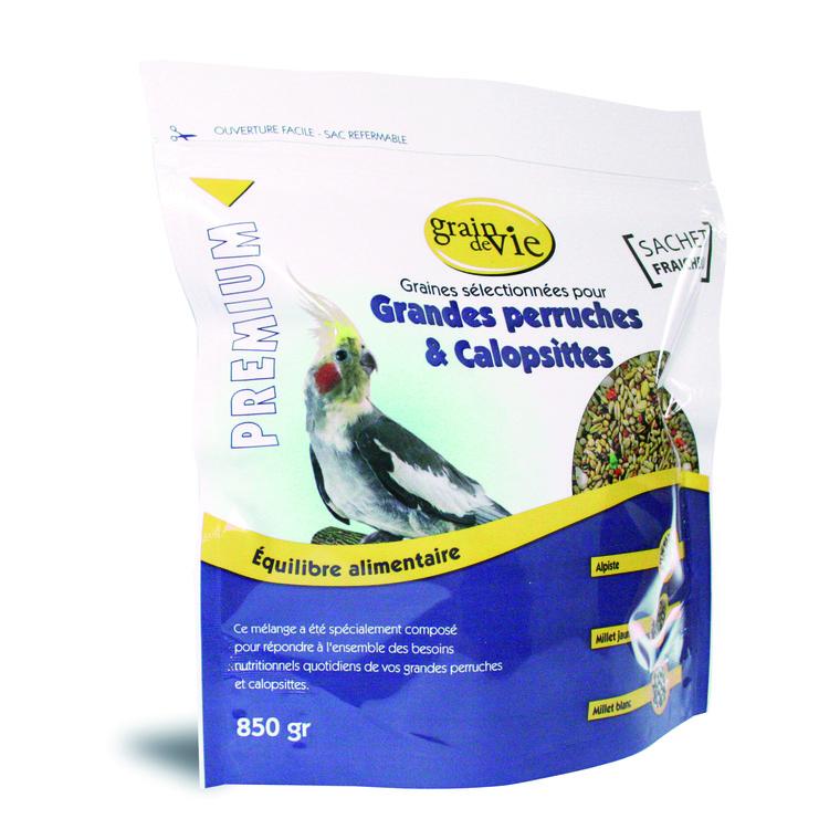 Melange calopsitte et grande perruche premium 850 g 613328