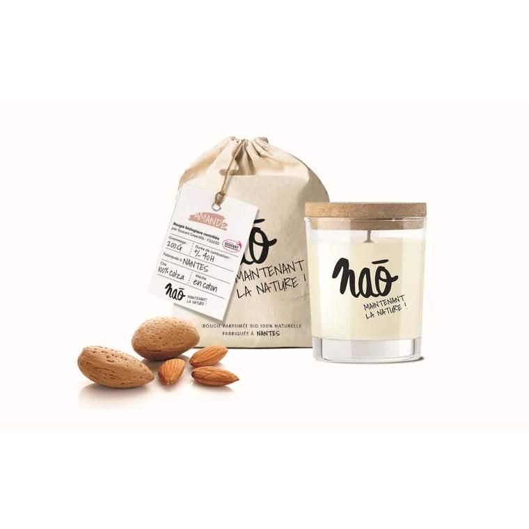 Bougie parfumée bio Nao amande - 200 g 615346