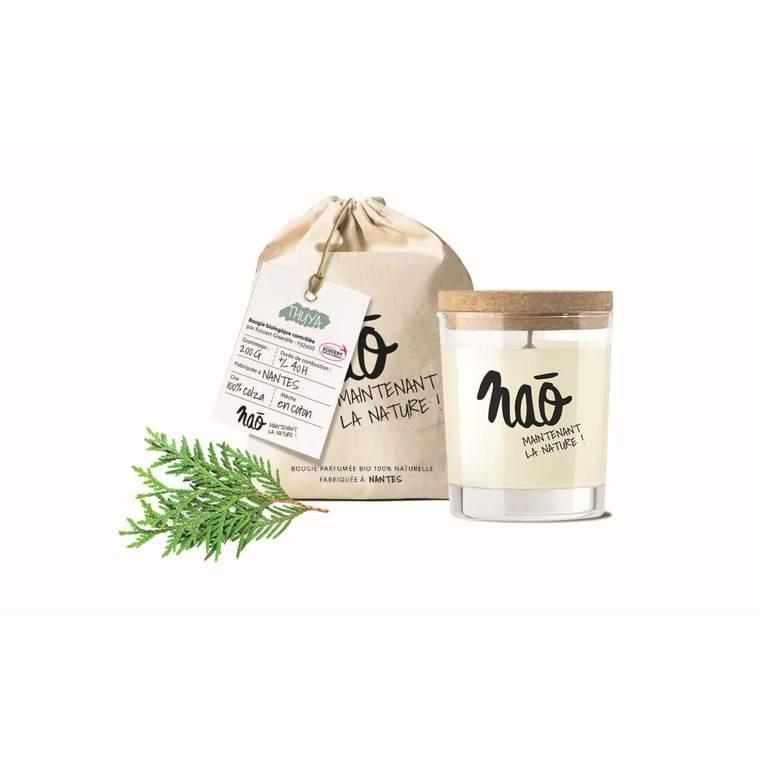 Bougie parfumée bio Nao thuya - 200 g 615347