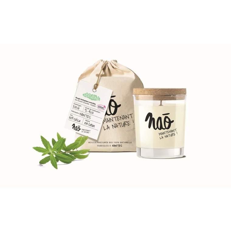 Bougie parfumée bio Nao verveine - 200 g 615348