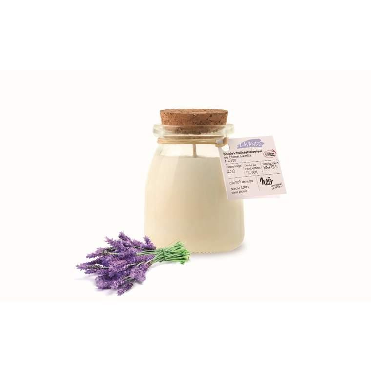 Bougie parfumée pot de yaourt Nao lavande  - 120 g 615358