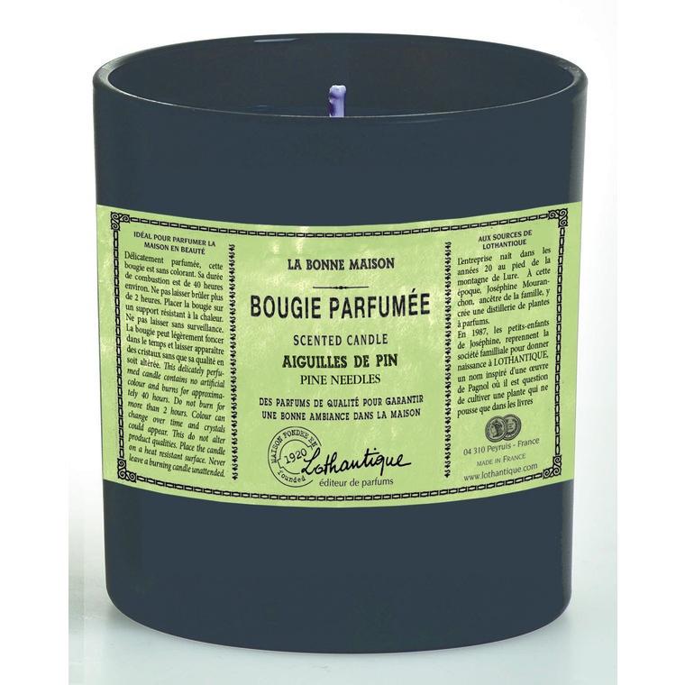 Bougie ronde parfumée Aiguilles de pin - 160gr 61618