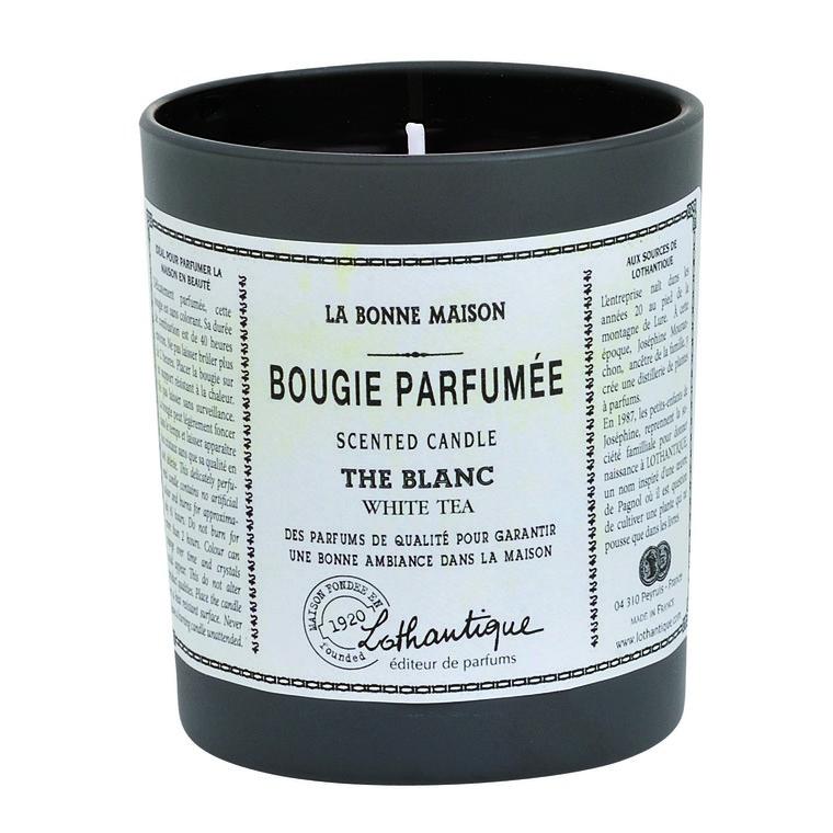 Bougie ronde parfumée au Thé blanc - 160 gr 61619