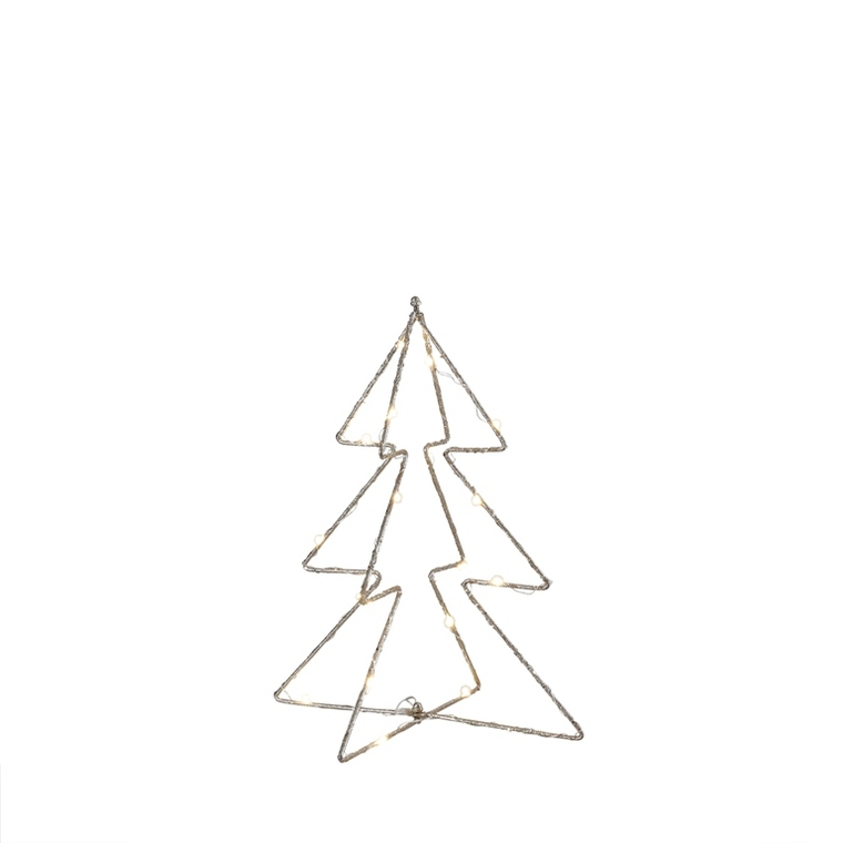 Arbre de Noël en métal à LED champagne H 32,5 x Ø 22 cm 616312