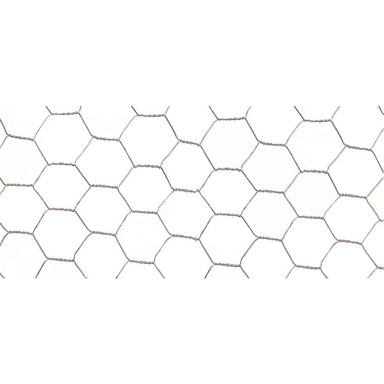 Grillage Galvanex maille hexagonale 1,3 cm Métal galvanisé Gris L5 m x H50 cm 616469