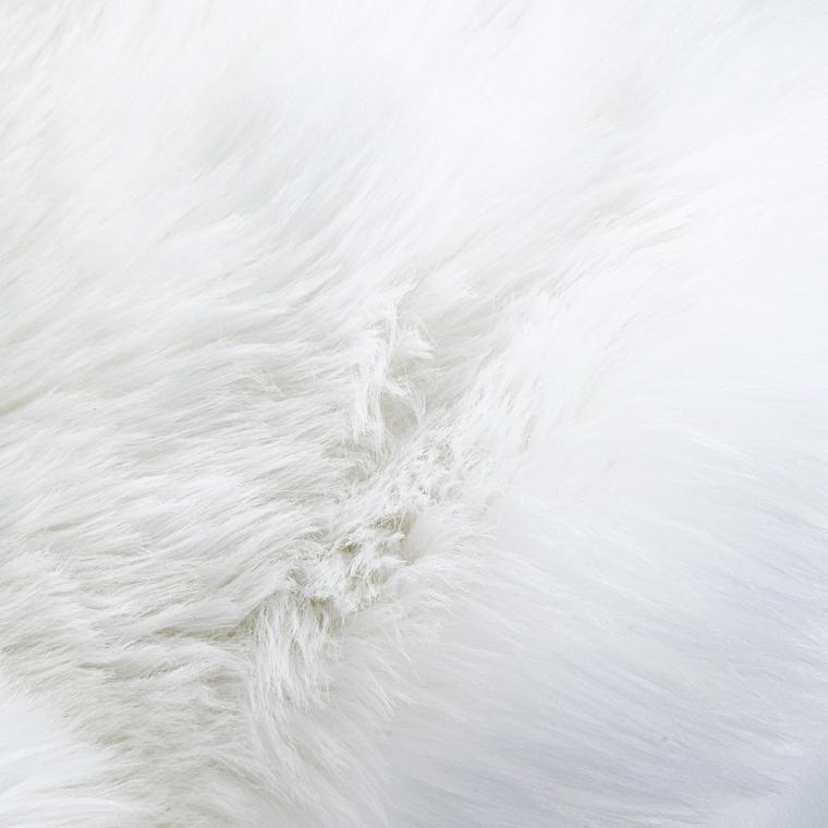 Tapis en fourrure synthétique d'agneau blanc 90 x 55 cm 616735