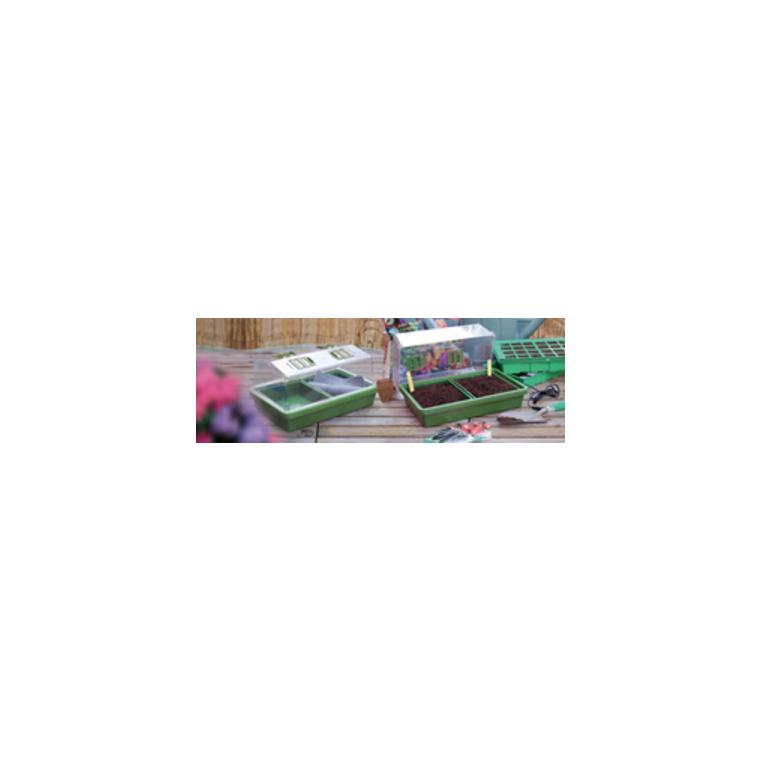 Serre chauffante coloris vert 39x25x20 cm 61704