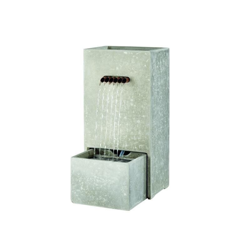 Fontaine cache-pot gris 26 x 35 x 70 cm 617085
