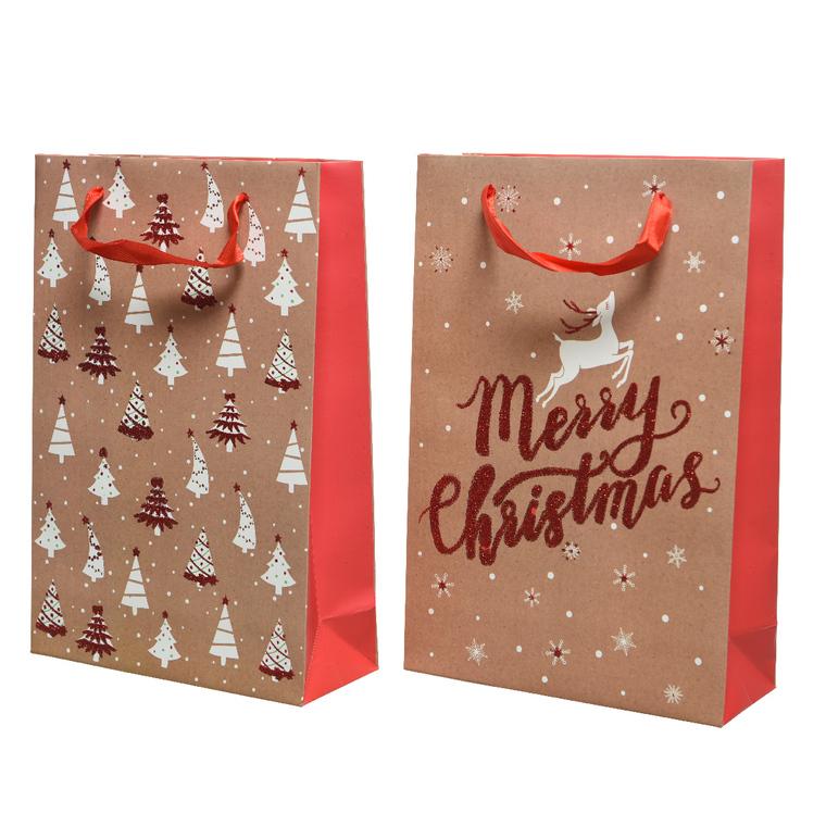 Sac Cadeau Papier avec Paillettes 10x26x32 cm 617569