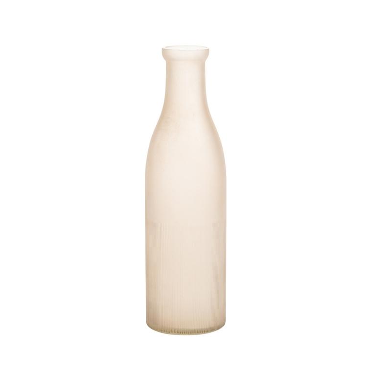Vase bouteille beige en verre H. 30 x Ø 9 cm 618028