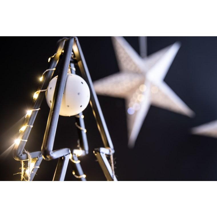Boule de Noël en verre blanc à pois multicolores Ø 7 cm 622935
