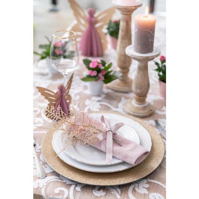 Ange à poser en papier rose et or grand modèle 23 cm 623061