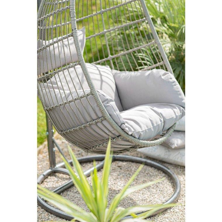 Chaise à suspendre Corsica d'extérieur couleur grise 623066