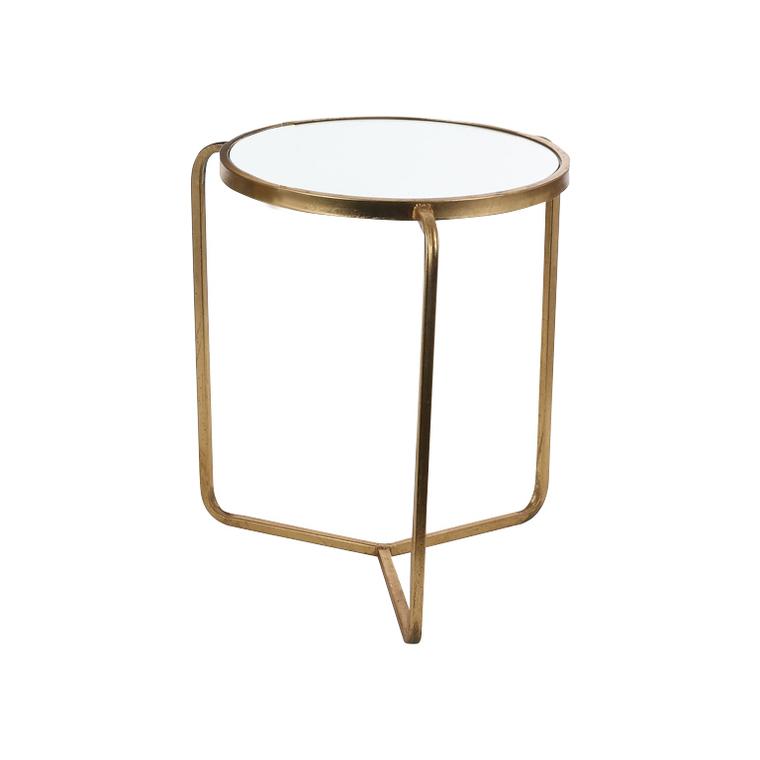 Table de service Aristo en verre et métal doré PM H 45 x Ø 35 cm 623103