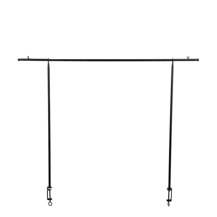Barre de suspension en métal noir pour décoration de table 250x110 cm 623720