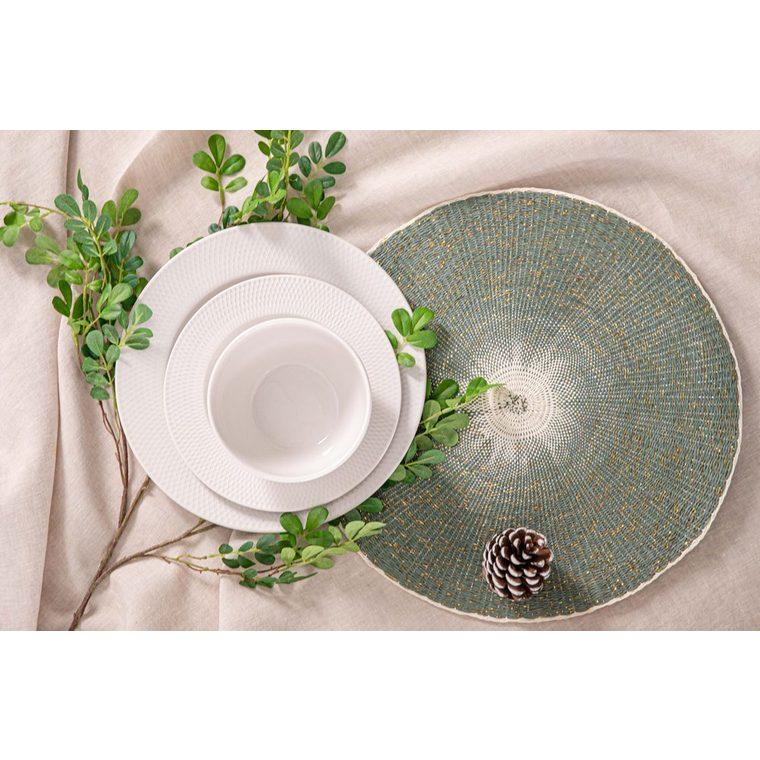 Assiette plate en porcelaine blanche Ø 27 cm 623944