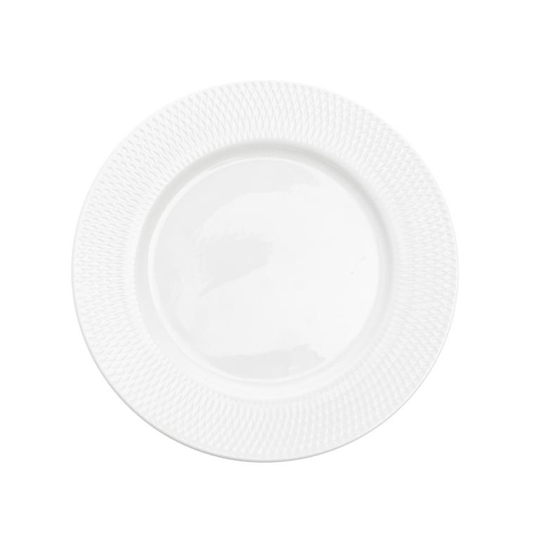 Assiette à dessert en porcelaine blanche Ø 20 cm 623945