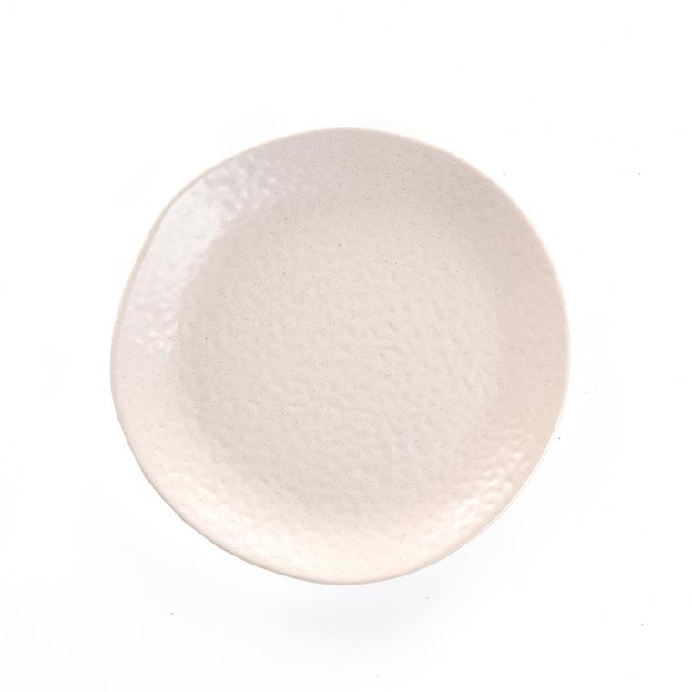 Assiette à dessert en grès beige Ø 20 cm 623949