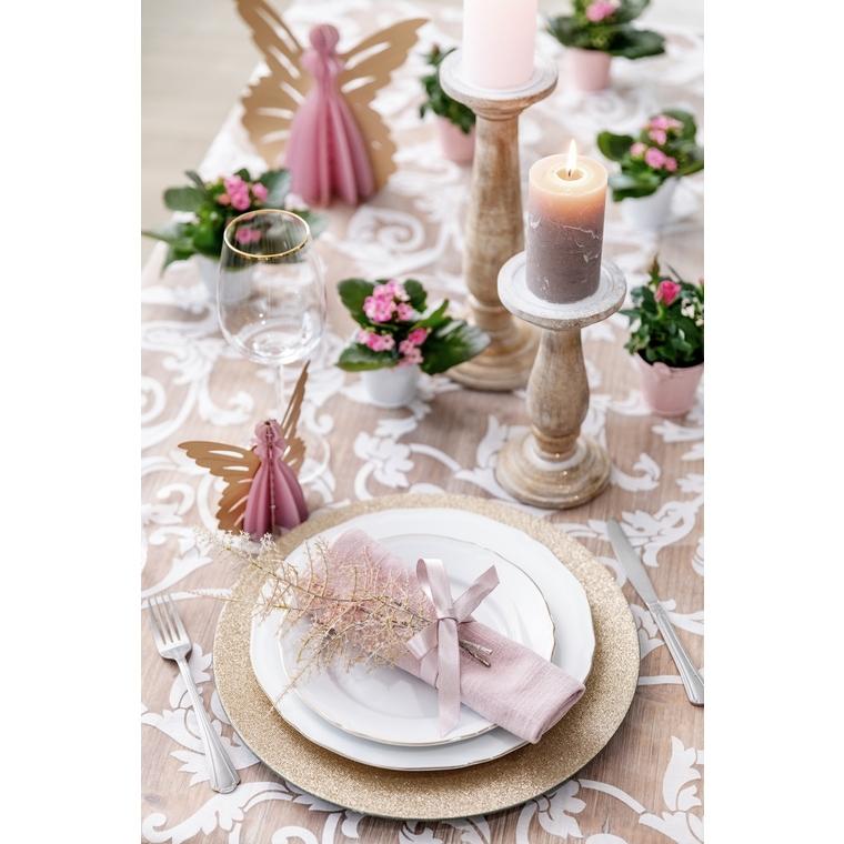 Assiette décorative scintillante dorée Ø 33cm 624007