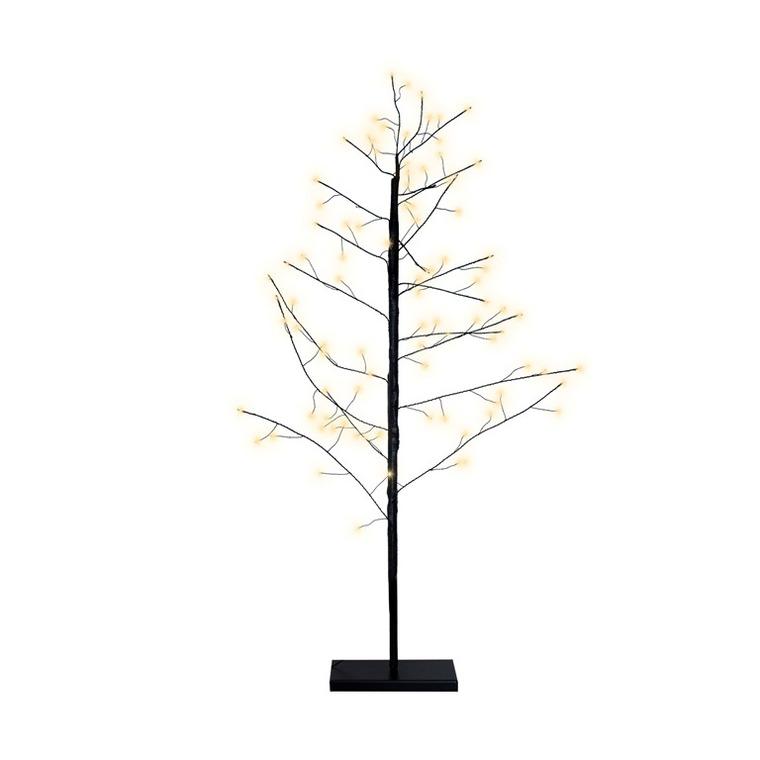 Arbre fil cuivre noir 115 LED H120cm 624177