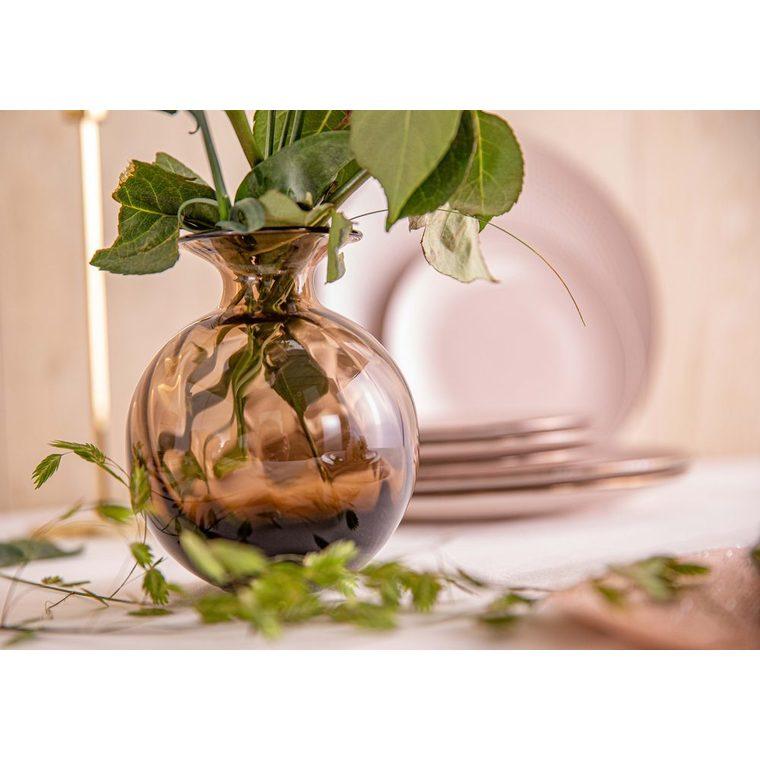 Swirl vase marron en verre H 14,5 x Ø 12 cm 624561