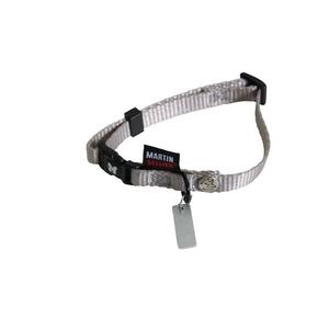 Collier chien réglable 10mm / 20-30cm gris