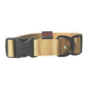 Collier chien réglable 40mm / 50-70cm jaune