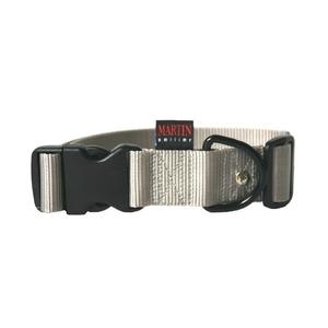 Collier chien réglable 40mm / 50-70cm gris