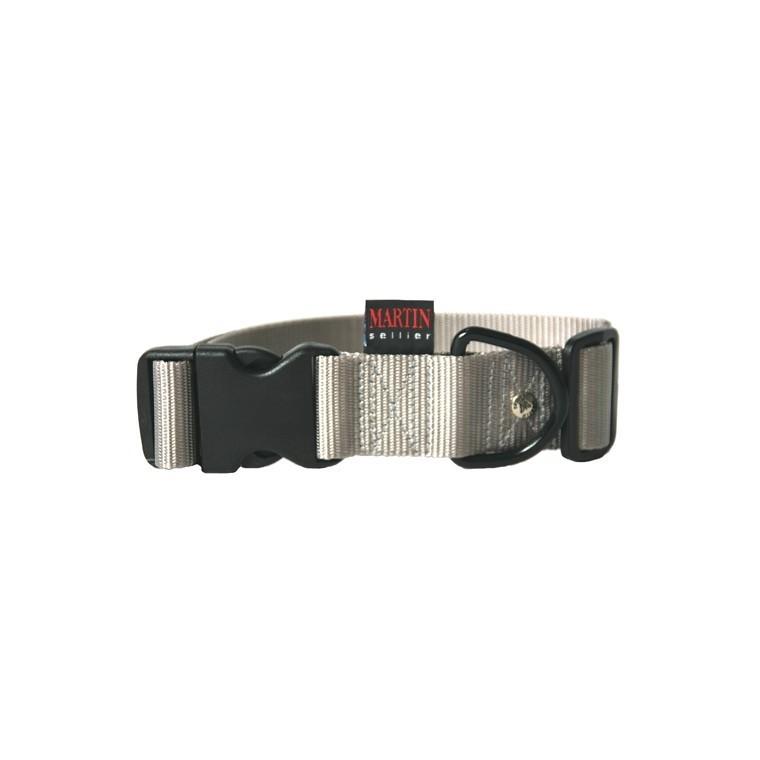 Collier chien réglable 40mm / 50-70cm gris 626683