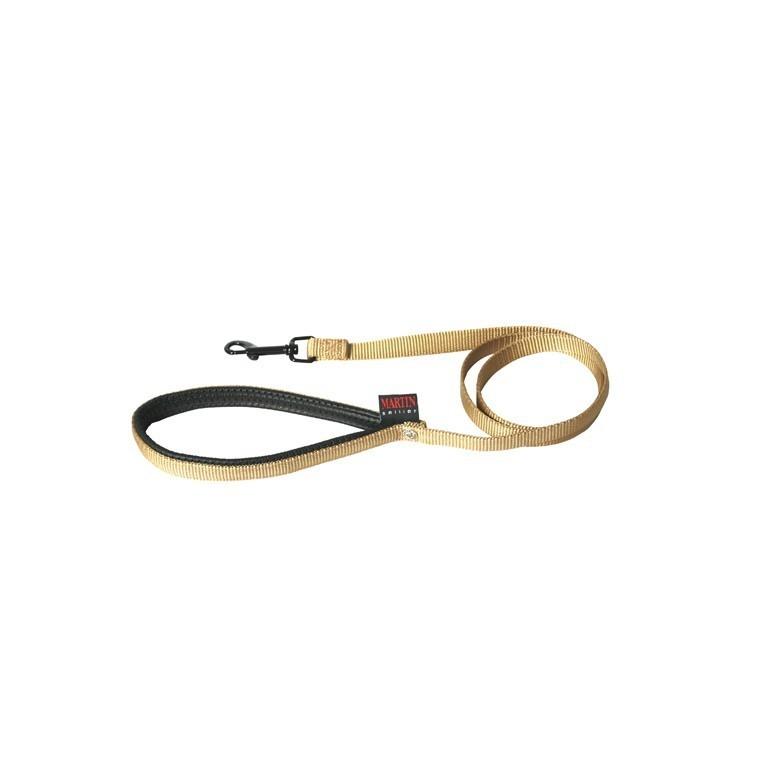 Laisse chien nylon 25mm / 120cm beige 626711