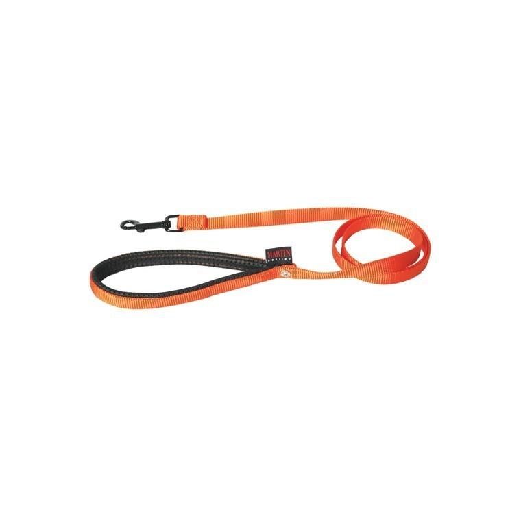 Laisse chien nylon 25 mm / 120 cm orange 626713