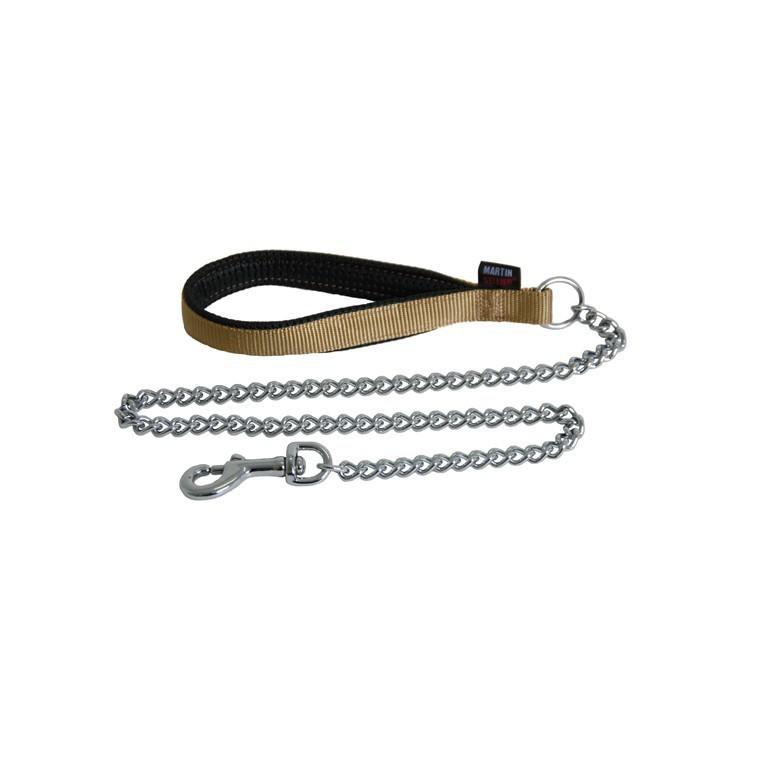 Laisse chien chaîne forte 25 mm / 100 cm beige 626724