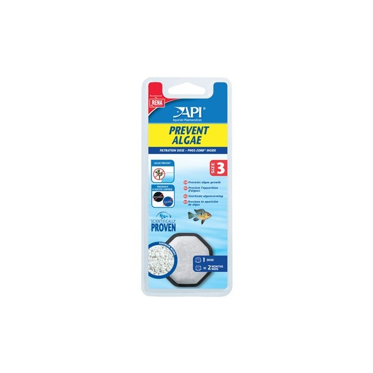 Recharge Filtre aquarium API Rena Prevent Algae size 3 x1 626836