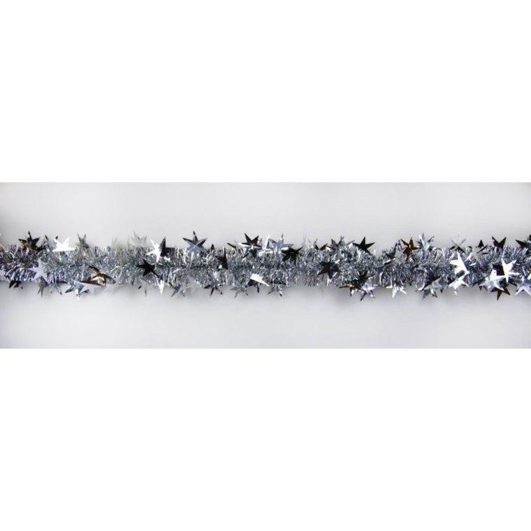Guirlande argentée avec grandes étoiles 627047