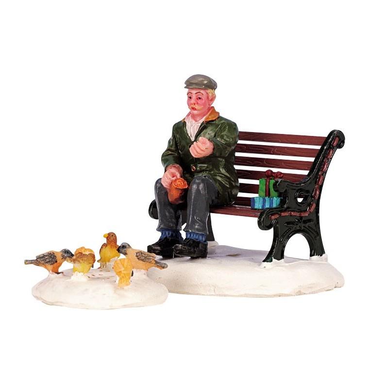 Figurine Lemax Nourrir les pigeons 627549