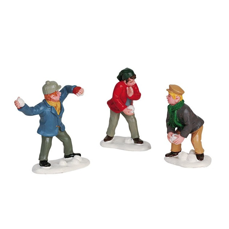Figurine Bataille de boules de neige 5.1 x 2.2 x 5.2 cm 627587