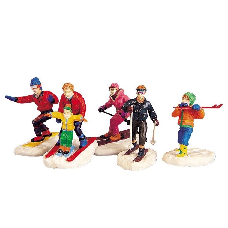 Figurine Groupe de skieurs 23.5 x 3.3 x 5.8 cm